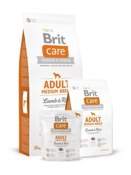 BRIT CARE ADULT MEDIUM BREED LAMB & RICE 12 kg