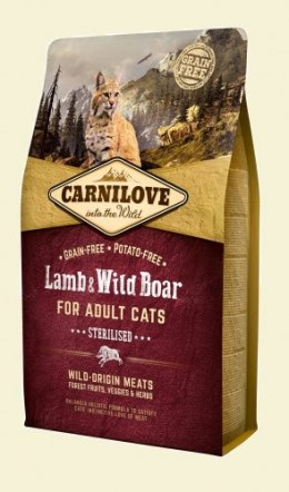 CARNILOVE CAT LAMB&WILD BOAR STERILISED 2kg