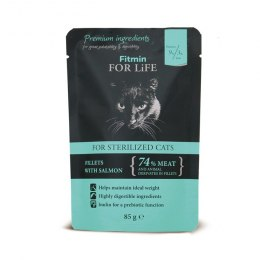 FITMIN cat For Life pouch sterilized Salmon 85g