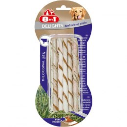 8in1 Przysmak Delights Beef Twisted Sticks 10 szt. [T122500]