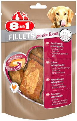8in1 Przysmak Fillets pro skin and coat S 80g [T112419]