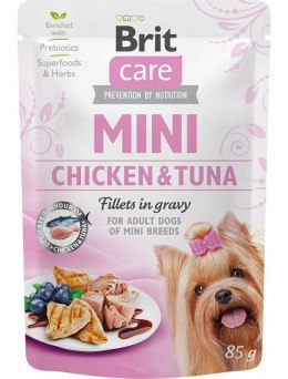 BRIT CARE MINI POUCH CHICKEN & TUNA SASZETKA 85 G