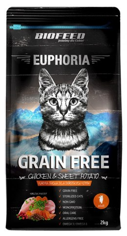 BIOFEED Euphoria ADULT CAT Grain Free Chicken&Potato 2kg