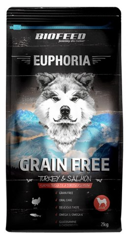BIOFEED Euphoria Adult Dog GF TURKEY&SALMON 2kg