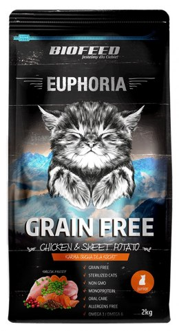 BIOFEED Euphoria JUNIOR CAT Grain Free Chicken&Potato 2kg