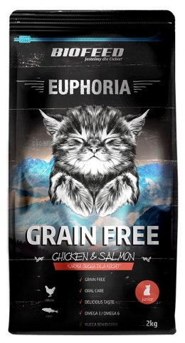BIOFEED Euphoria JUNIOR CAT Grain Free Chicken&Salmon 2kg